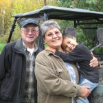 Shareholders Paul and Linda Evans with grandson Justin Evans